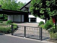 metallzaun zum selber bauen aluminiumzaun. Black Bedroom Furniture Sets. Home Design Ideas