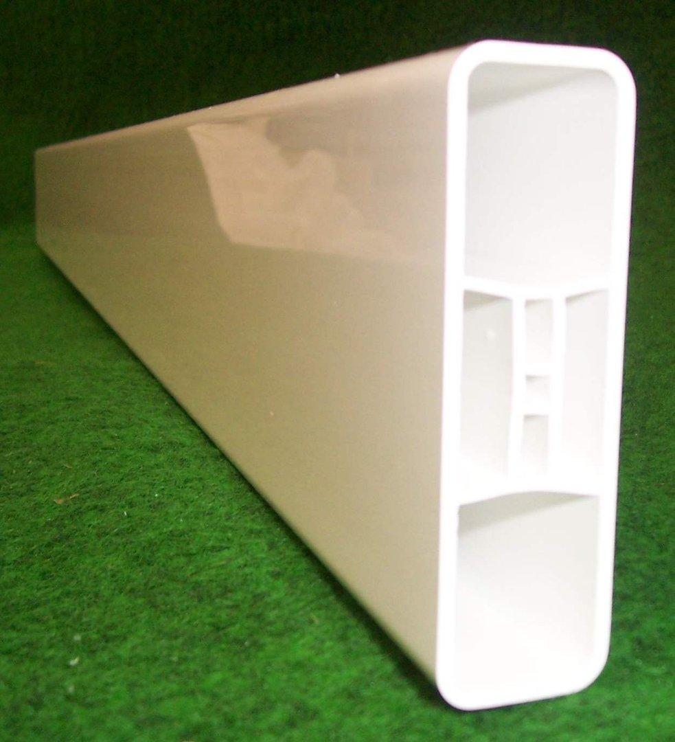 Zaunlatte aus Kunststoff 85x25mm weiß Kunststoffzaun