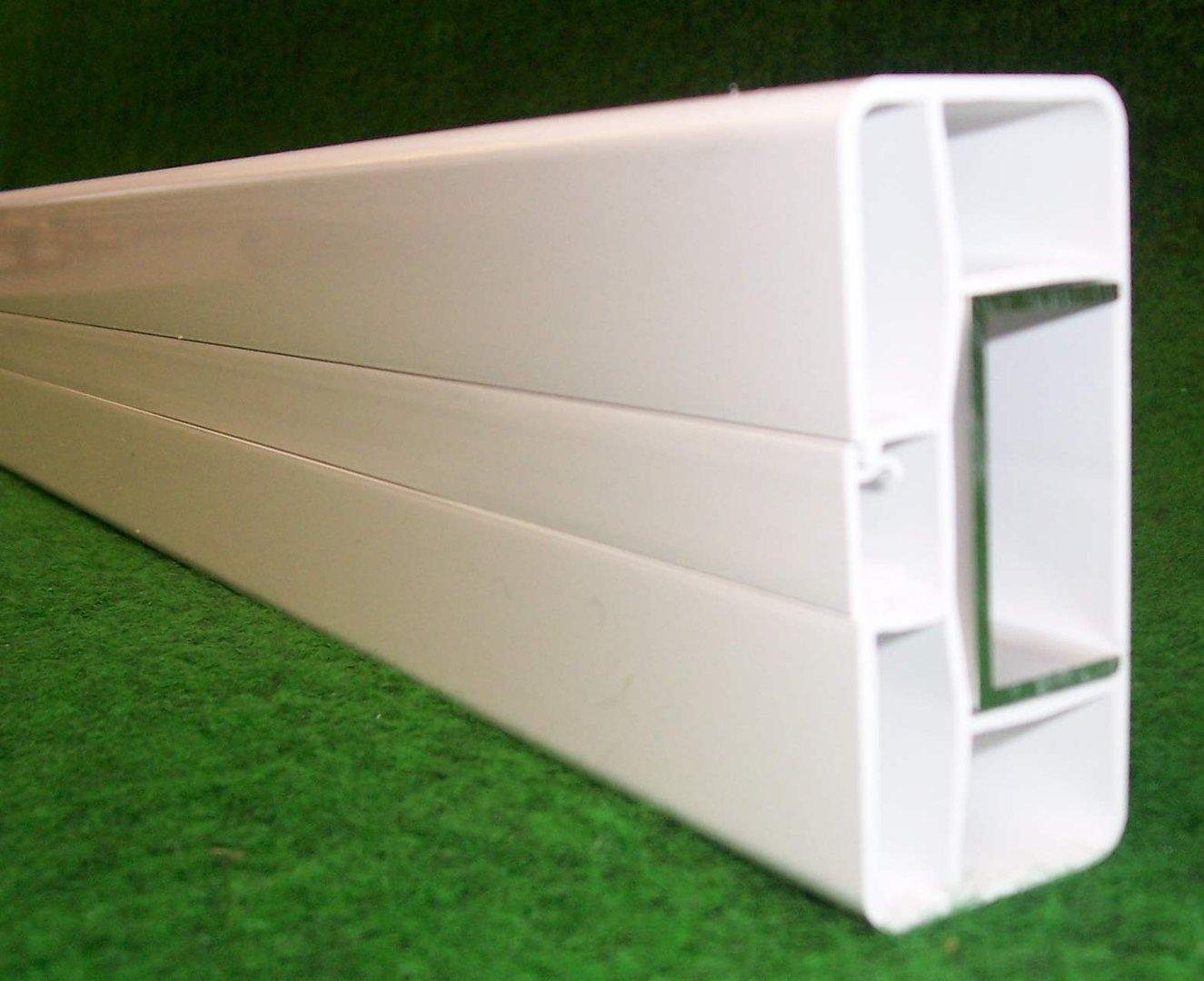 Zaun Querriegel 80x35mm weiß Kunststoffzaun