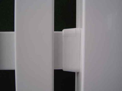 zaun querriegelhalter wei kunststoffzaun. Black Bedroom Furniture Sets. Home Design Ideas