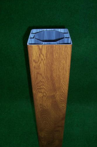 Kunststoff Zaunpfosten 100x100mm Golden Oak Kunststoffzaun